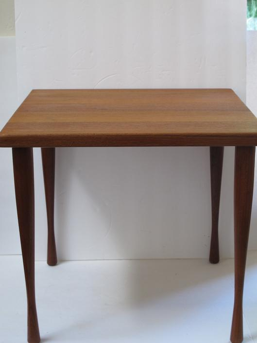Danish Modern Side Table Andersen Denmark End Table Solid Teak Wood Table Teakwood Small Table MCM Mid Century Side Table Modern End Table by akaATA