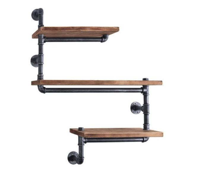 Custom Wood + Pipe Shelving Unit - Reclaimed Wood & Pipe Shelf by arcandtimber