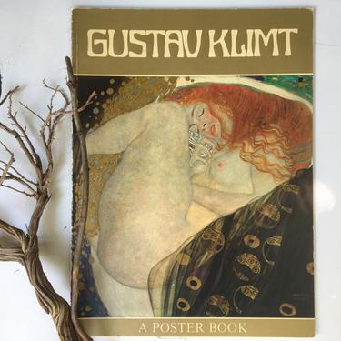 70's Gustav Klimt Poster Book, 1976 Book Of Color Art Prints Of Women, Art Nouveau, Symbolism, Modern Art by luckduck