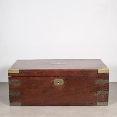 19th c. Antique Mahogany Writing Slope Desk c.1800s