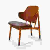 Ib Kofod-Larsen Lounge Chair in Teak and Birch