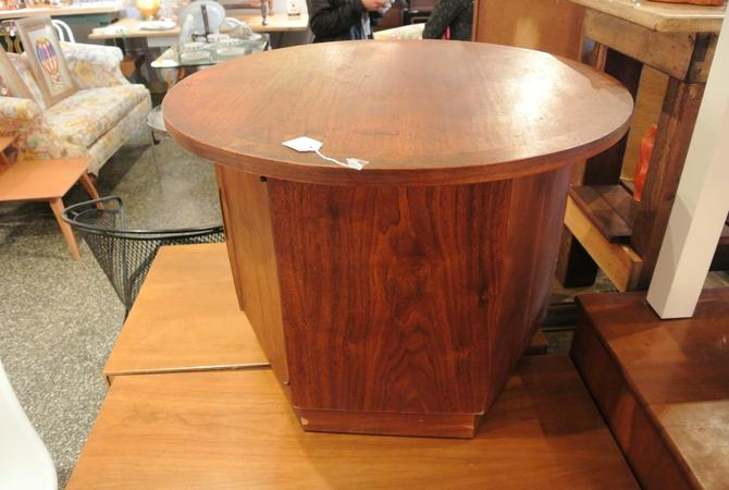 Mid century end table hidden storage shelf 75 from miss for Hidden storage side table