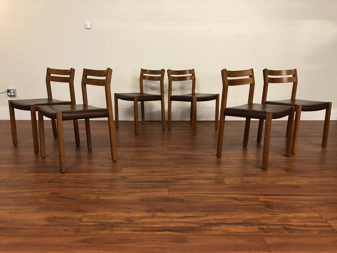 JL Moller Teak Dining Chairs Set of 6 - Made in Denmark by Vintagefurnitureetc