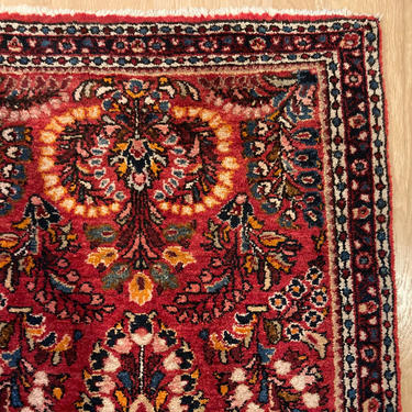 Vintage Rug 2' 2 x 4' 1 Red Oriental Rug by JessiesOrientalRugs