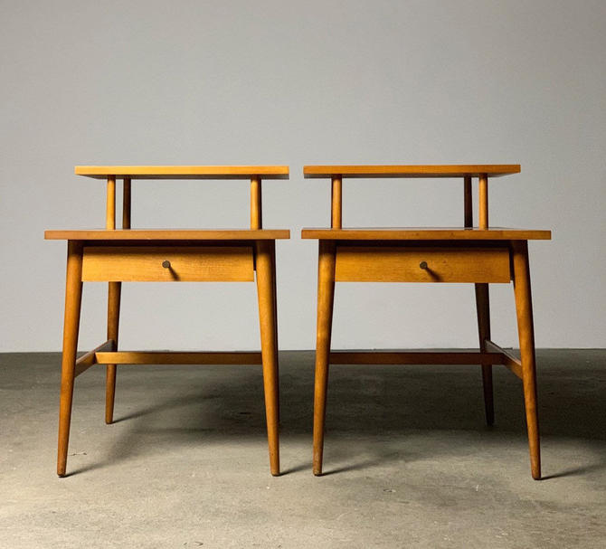 Paul McCobb 'Planner Group' Step Tables by Winchendon Furniture by midcenTree