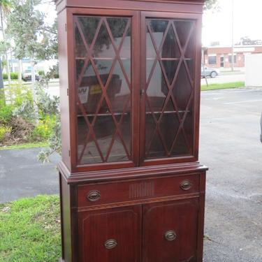 Mahogany China Closet Display Cabinet Cupboard 2208