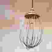 Repurposed Industrial Mixer Pendant Light