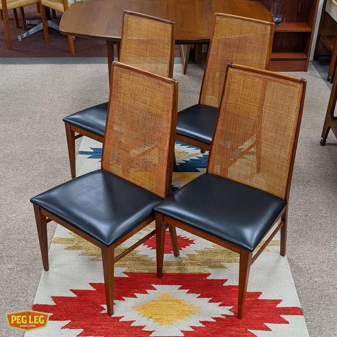 Set of 4 walnut dining chairs from the 'Esprit' collection by Dillingham