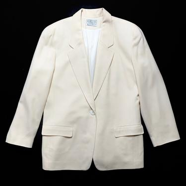 Vintage Women's PENDLETON 100% Wool Tweed Jacket ~ size 14 / fits Medium to Large ~ Blazer / Sport Coat ~ Glen Plaid ~ by SparrowsAndWolves