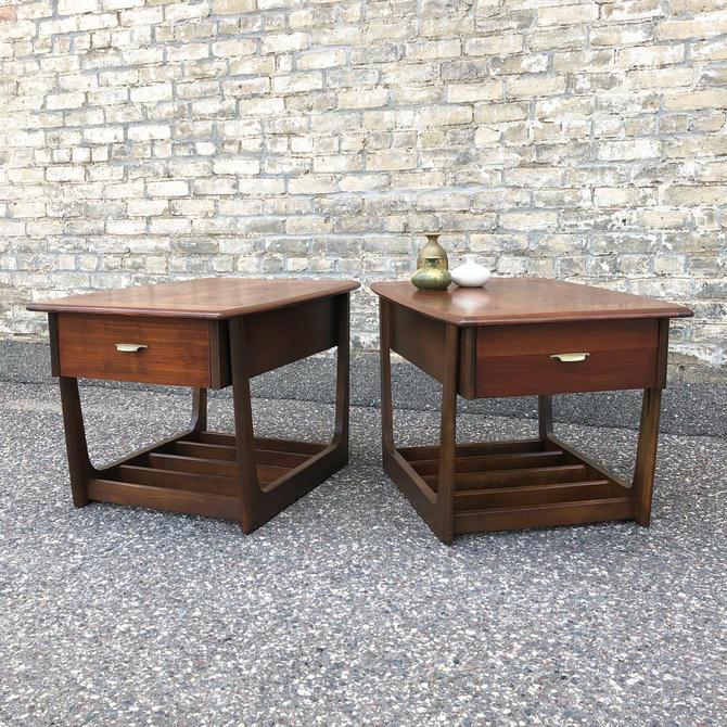 Mid-century Walnut Accent Tables