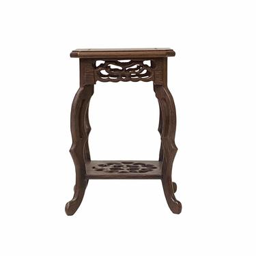 """Chinese Brown Wood Square Tall Table Top Stand Display Easel 4.25"""" ws1615BE by GoldenLotusAntiques"""
