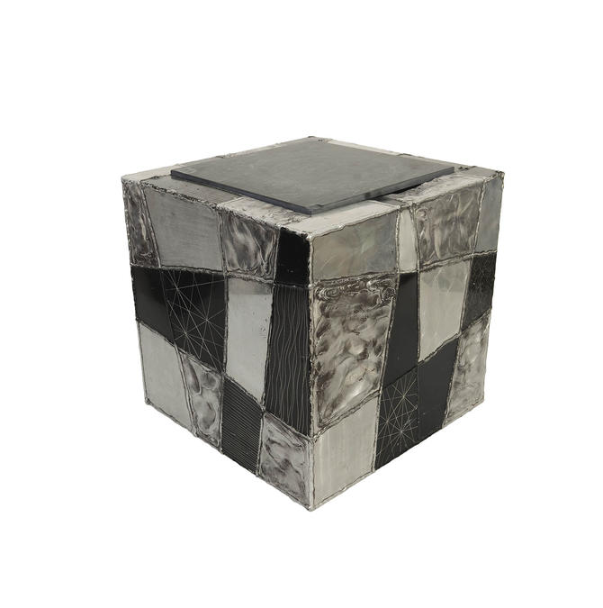 Paul Evans Argente Cube Table Model PE37 Brutalist Mid Century Modern by HearthsideHome