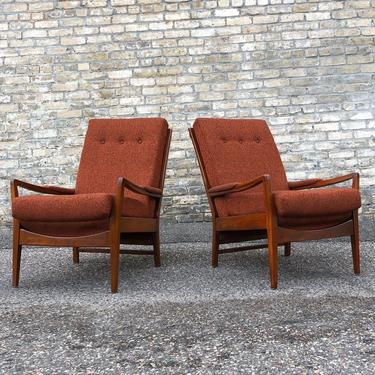 High Back Mid-century Lounge Chairs