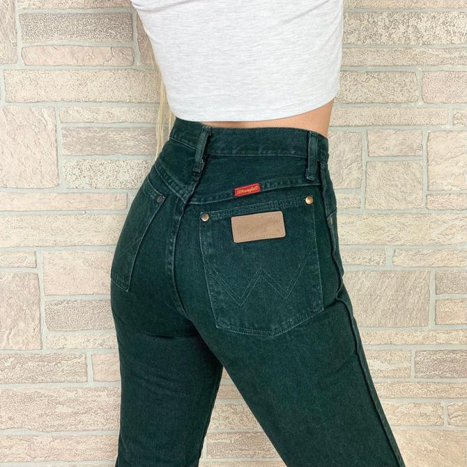 Wrangler Forest Green Western Jeans / Size 24 by NoteworthyGarments