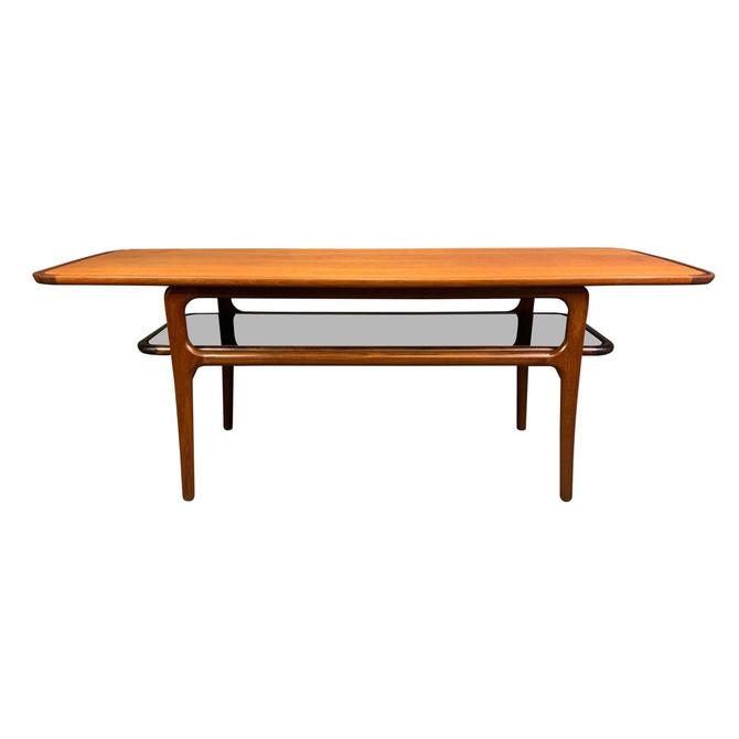Vintage Danish Mid Century Modern Teak & Glass Coffee Table by AymerickModern