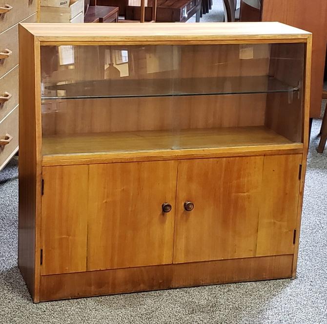Item #MA176 Vintage Walnut Bookcase / Cabinet c.1940s