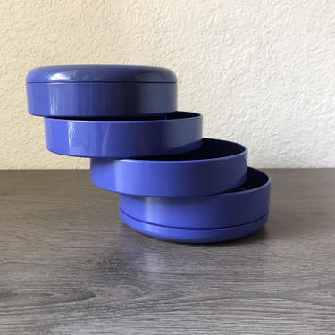 Vintage interDesign Purple stacking swivel desk organizer by PKFlamingoVintage