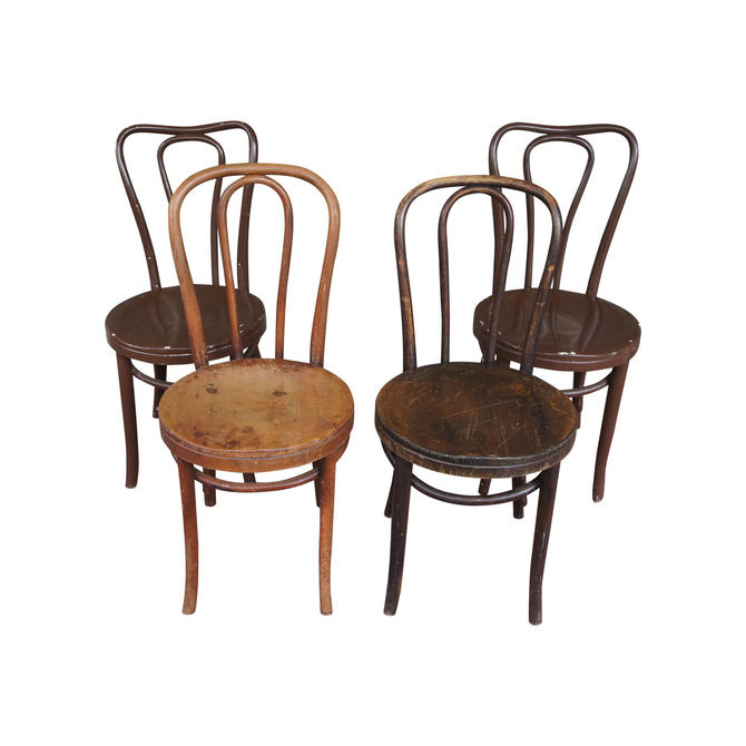 1940s Antique Thonet Model 18 Cafe Chairs - Set of 4 by MetronomeVintage