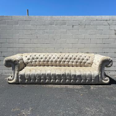 Antique Sofa Couch Tufted Vintage Hollywood Regency Loveseat Lounge Seating Settee Rococo Baroque Mid Century Modern Glam Bohemian Boho by DejaVuDecors