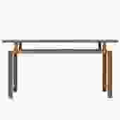 Oriental Zen Unfinished Wood Slim Open Side Table cs4941S