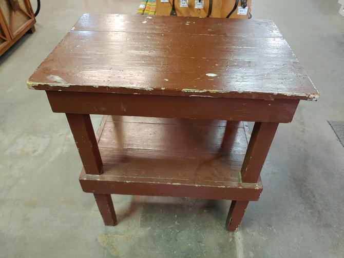 """Cute little wood side table 22 1/2""""× 15 1/2""""× 24 1/2"""""""