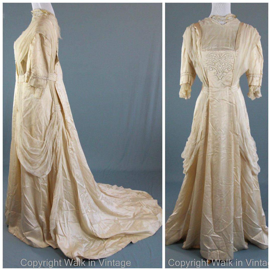 Antique Edwardian Dress 1900s Gibson Girl Belle Epoque