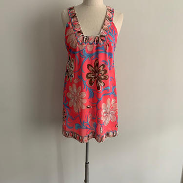 Emilio Pucci for Formfit Rogers Fuchsia print slip/nightie by MartinMercantile