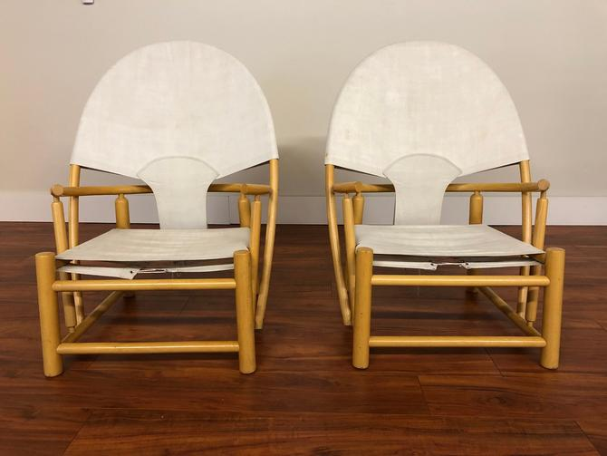 1970s Hoop Chairs by Piero Palange and Werther Toffoloni by Vintagefurnitureetc