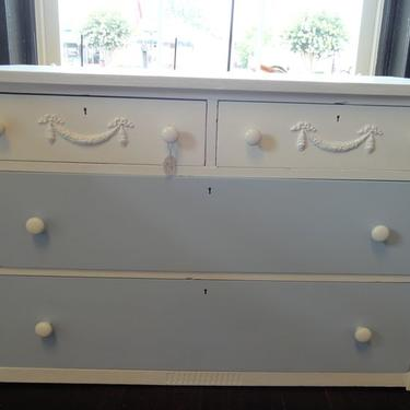 Very old dresser.  Saved by some chalk paint.
