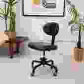 1950's Black Office Rolling Chair