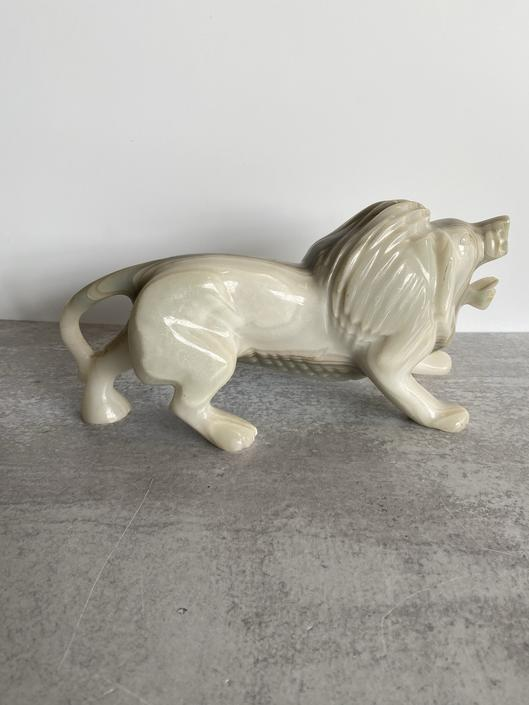 Banded Agate Lion Sculpture