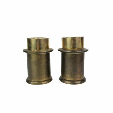 Pair of Solid Brass Candlestick Holders, set of 2 by Northforkvintageshop