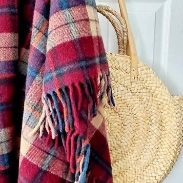Vintage Pendleton Wool Plaid Blanket by pennyportland