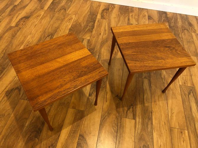 Hans C Andersen Solid Teak Side Tables - a Pair by Vintagefurnitureetc