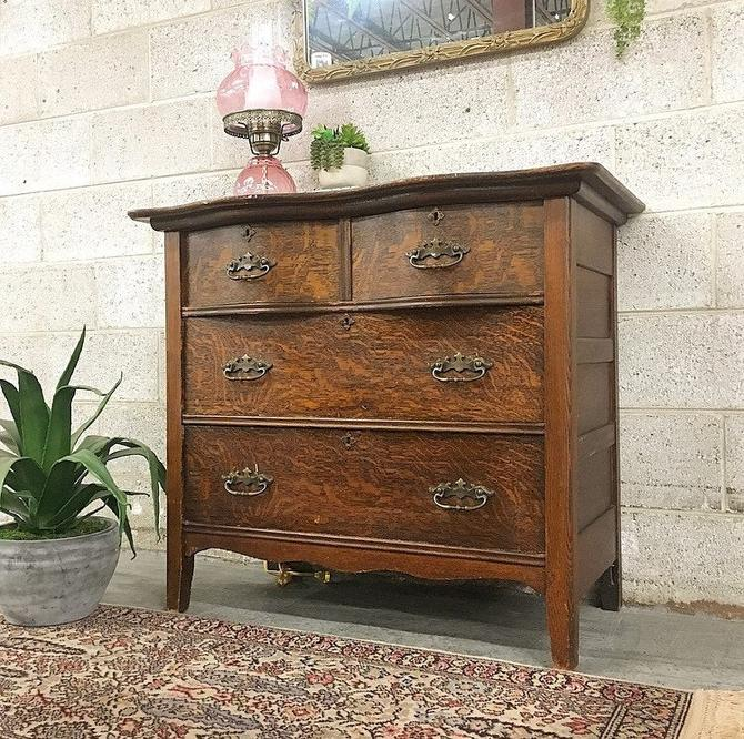 LOCAL PICKUP ONLY ------------- Antique Wood Dresser by RetrospectVintage215