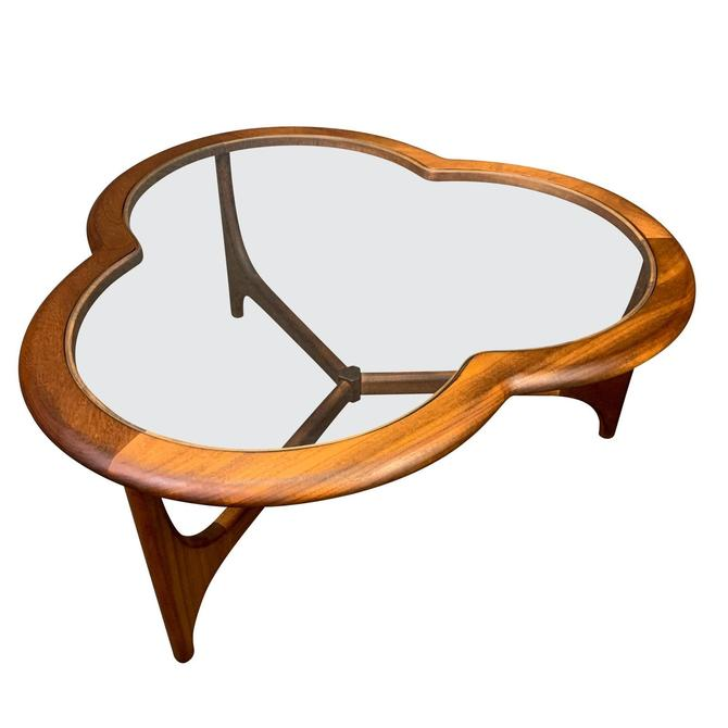 """Vintage British Mid Century Modern Teak and Glass """"Clover Leaf"""" Coffe Table by Stonehill by AymerickModern"""