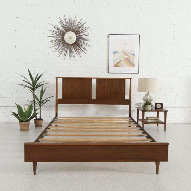 Walnut Full Bed Frame