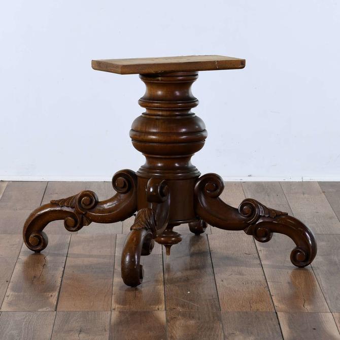 Carved Flemish Scroll Table Base