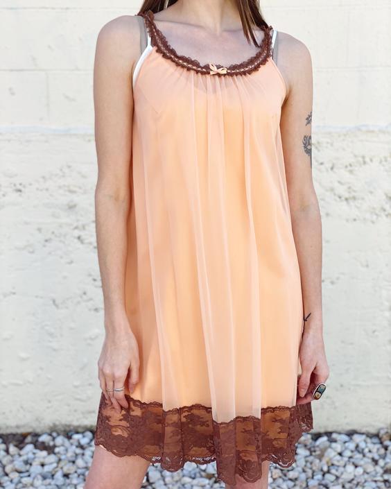 Peach Nightie Dress