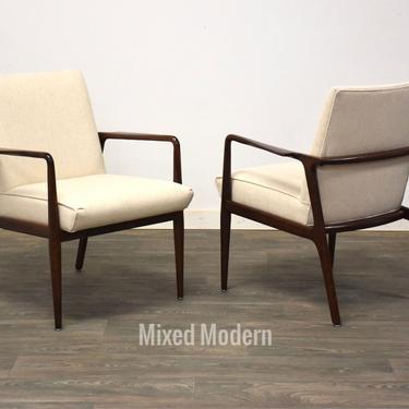 Stow Davis Walnut MCM Lounge Chairs- a Pair by mixedmodern1
