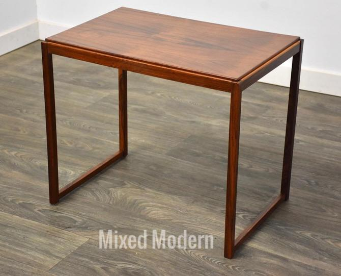 Rosewood MCM End Table by mixedmodern1