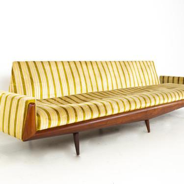 Adrian Pearsall for Craft Associates Mid Century Extra Long Walnut Gondola Sofa - mcm by ModernHill