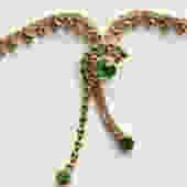 Grass Green Rhinestone Necklace by LegendaryBeast