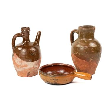 Grouping of French Terracotta Pottery Pieces by BluffStProps