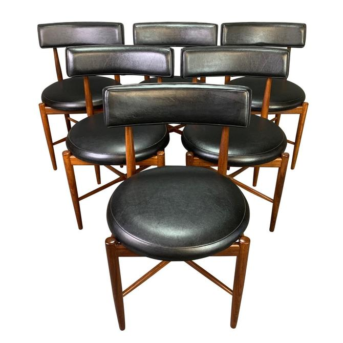 Set of Six Vintage British Mid Century Modern Teak Dining Chairs by Victor Wilkins for G Plan by AymerickModern