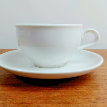 Vintage Iroquois Casual China | Redesigned Tea Cup and Saucer | Russel Wright | Sugar White by TheFeatheredCurator