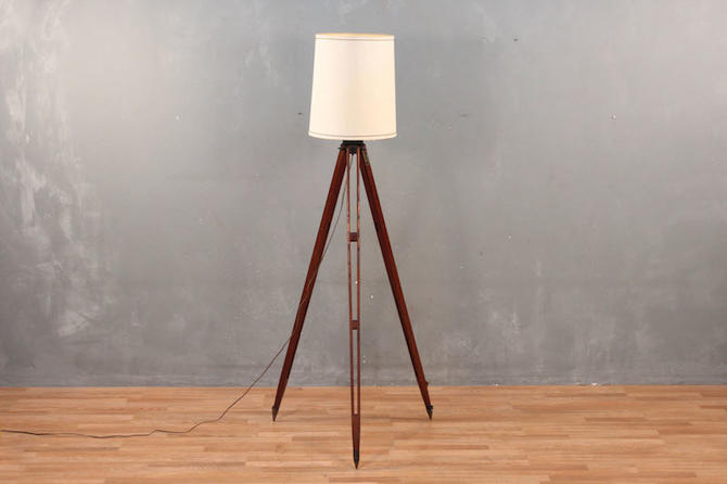 Antique Surveyor's Tripod Floor Lamp