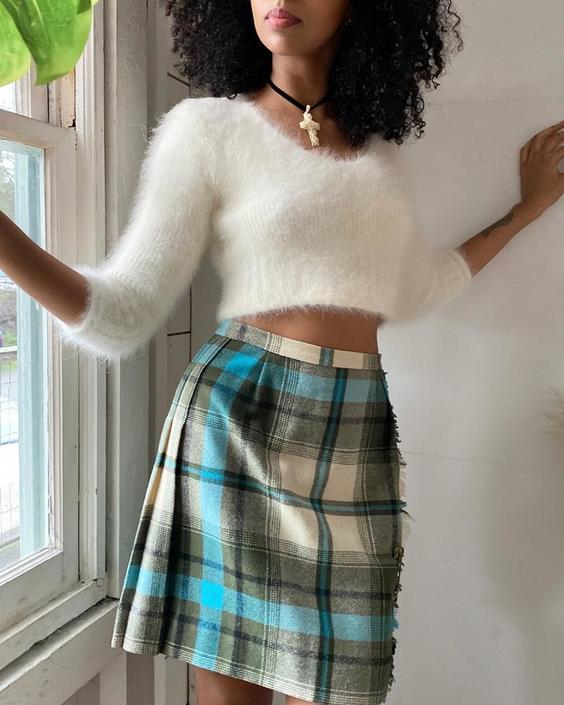 60s Pendleton Mini Skirt