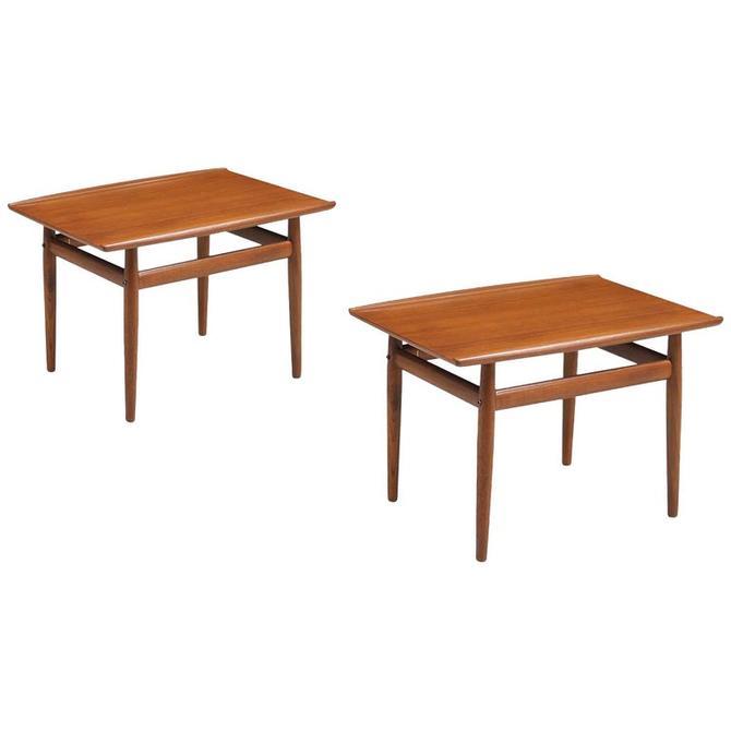 Pair Grete Jalk Teak End Tables Danish Midcentury Modern Glostrup Møbelfabrik