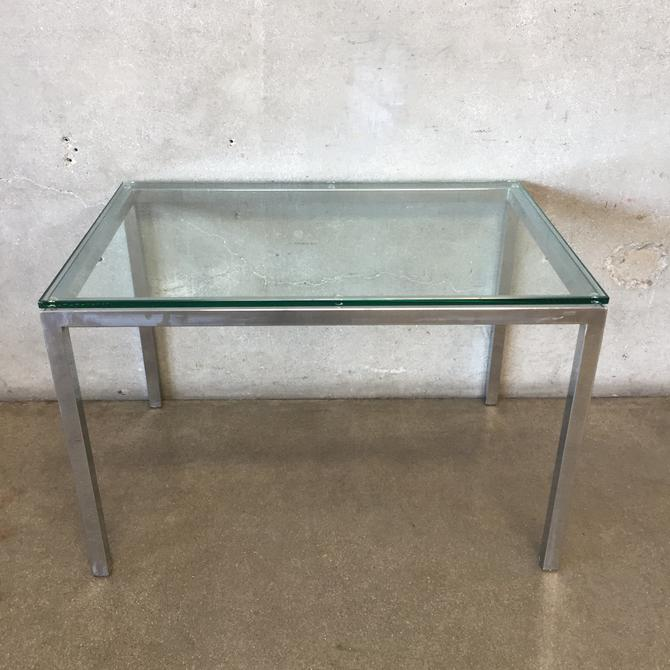 Contemporary Glass & Chrome Table by Gold Mitchell